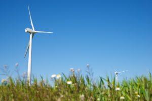 Windmill for electric power production, Zaragoza province, Arago