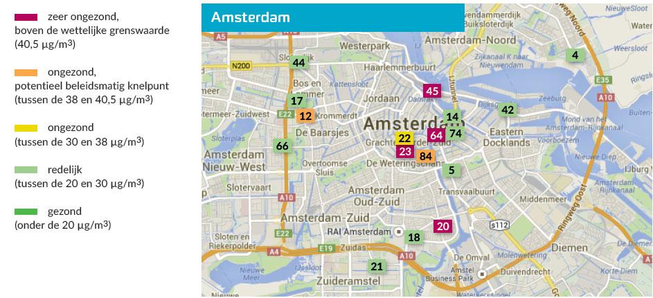 Luchtkwaliteit in Noord-Holland, metingen 2013