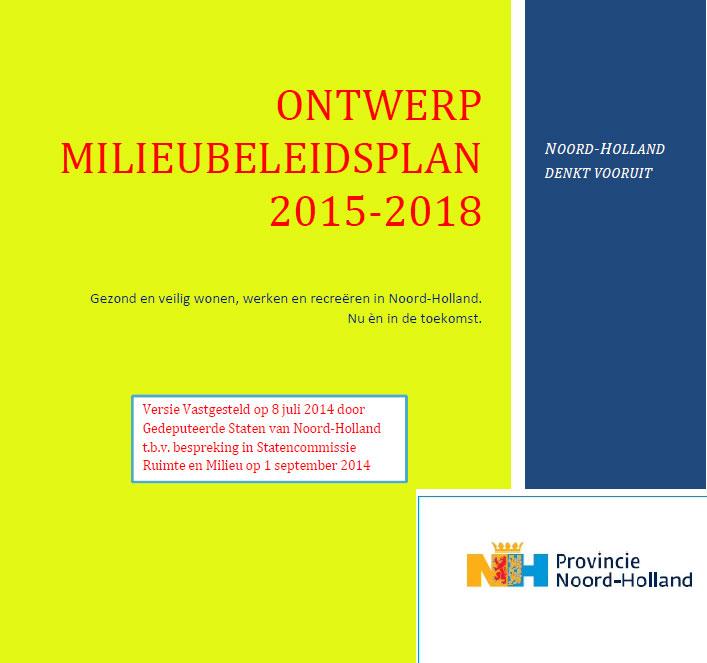 MNH zit op de eerste rij bij het nieuwe Ontwerp Milieubeleidsplan 2015-2018