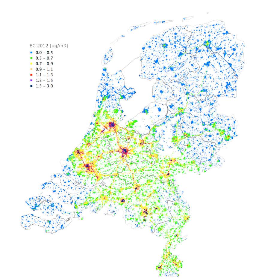 Eerste roetconcentratiekaart Nederland uit!